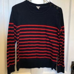 JCrew Jumper Navy with Red Stripes